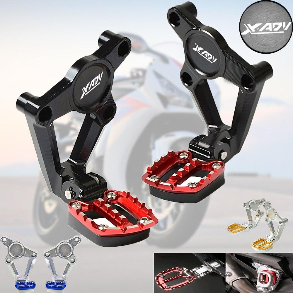 X-ADV CNC Motorcycle Footrest Passenger For HONDA XADV X ADV xadv 2017 2018 Folding Rear Footrest Foot Pegs foot Passenger Rear цены онлайн