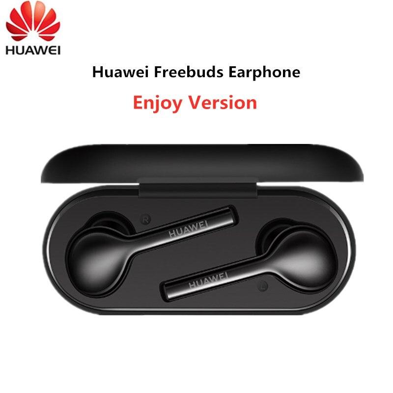 Original Huawei freebud Lite sans fil Bluetooth écouteur dans l'oreille avec robinet stéréo Double clic contrôle mains libres et boîte de charge-in Écouteurs et casques from Electronique    1