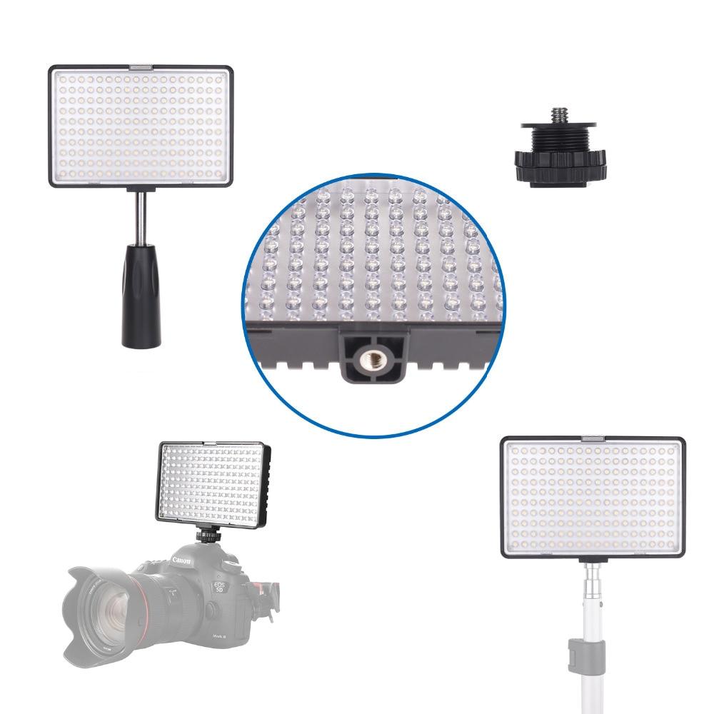 Spash TL-180S profesjonalne oświetlenie LED wideo możliwość przyciemniania 3200K/5600K 180 LEDs ręczne oświetlenie fotograficzne lampa LED Studio