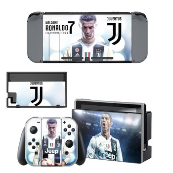Nintend Switch Vinyl Skins Sticker For Nintendo Switch Console and Controller Skin Set - Juventus Cristiano Ronaldo