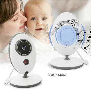 Wireless 2.4inch Digital Color LCD Baby Monitor Security Camera Night Vision Audio Video Temperature Monitoring Two Way Talk