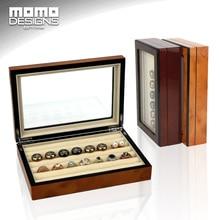 Caja de Joyería de madera caja de la Mancuerna de madera caja Del Anillo caja de almacenamiento Pendiente de caja Personalizada gemelos Joya de La pantalla