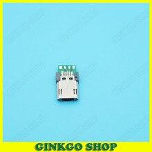 20 штук Глод покрытием Micro USB 5 P штекер с печатной платы solding разъем USB