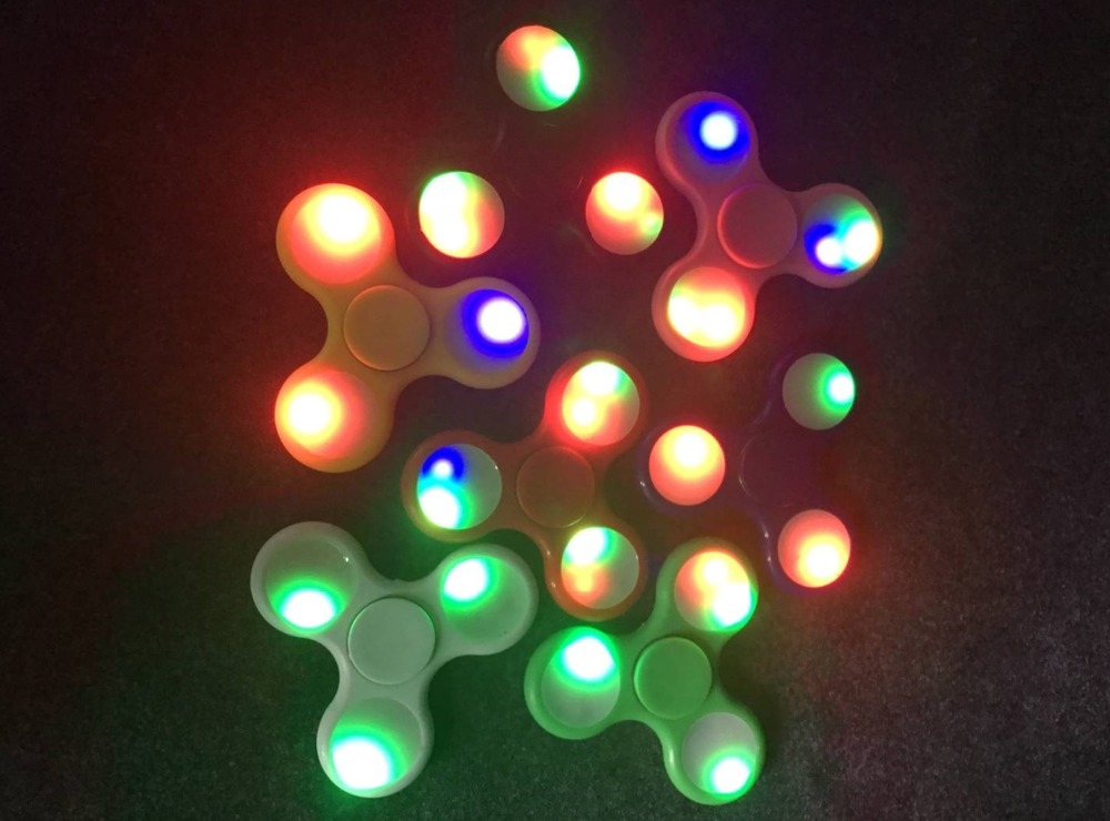 Fidget Spinner EDC LED Light Multi Color Hand Spinner For Fidget Autism ADHD Anxiety Stress Relief