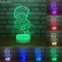 3d настольная лампа my hero academia midoriya izuku с сенсорным