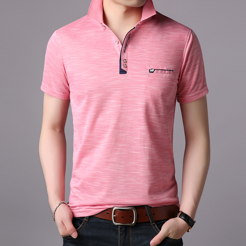 2019 New Fashion Brand Shirts   Polo   Mens British Style Summer With Short Sleeve Slim Fit Top Grade   Polos   Casual Men Clothing