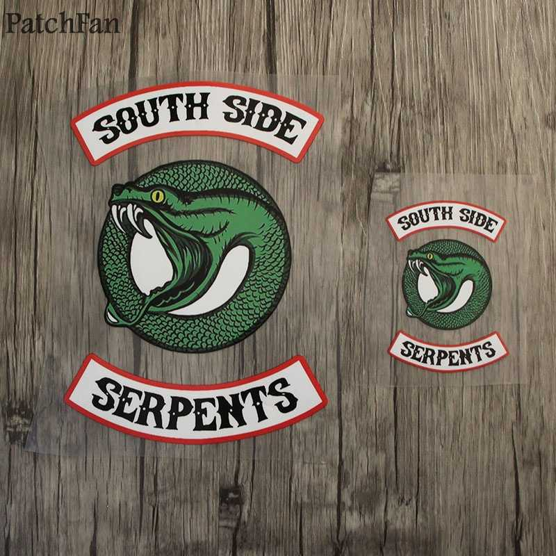 Patchfan 2 stücke riverdale Kleidung Patches Wärme presse Transfers Aufkleber Eisen-auf Patch DIY Handgemachte Appliques Jeans T-shirts A1780