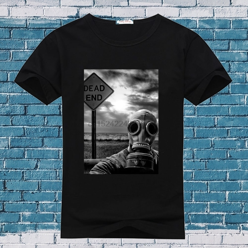 Tops & Tees Summer Fashion Men Cotton T Shirts Gas Mask Skull Man Round Neck Tops Black Size S-3xl Women Tshirt