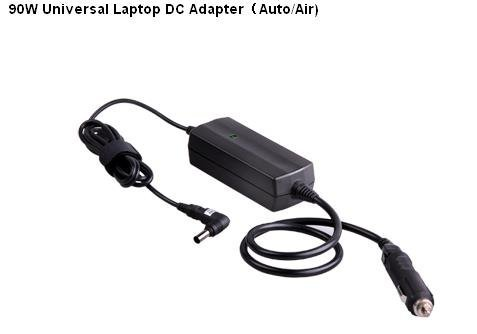 :90W Universal Laptop DC Adapter Auto/Airplane  Hot Sell