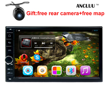 Free shipping 178 100mm 7 inch 2 din android 6 0 car dvd player GPS font