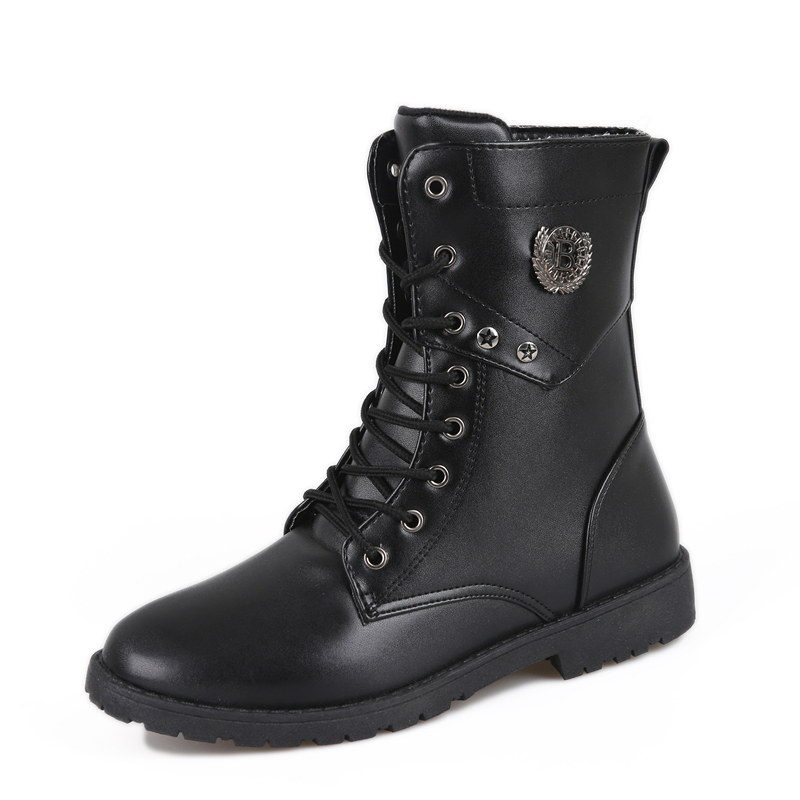 2018 new mens casual Martin boots tall tube boots stage performance boots military shoe  ...
