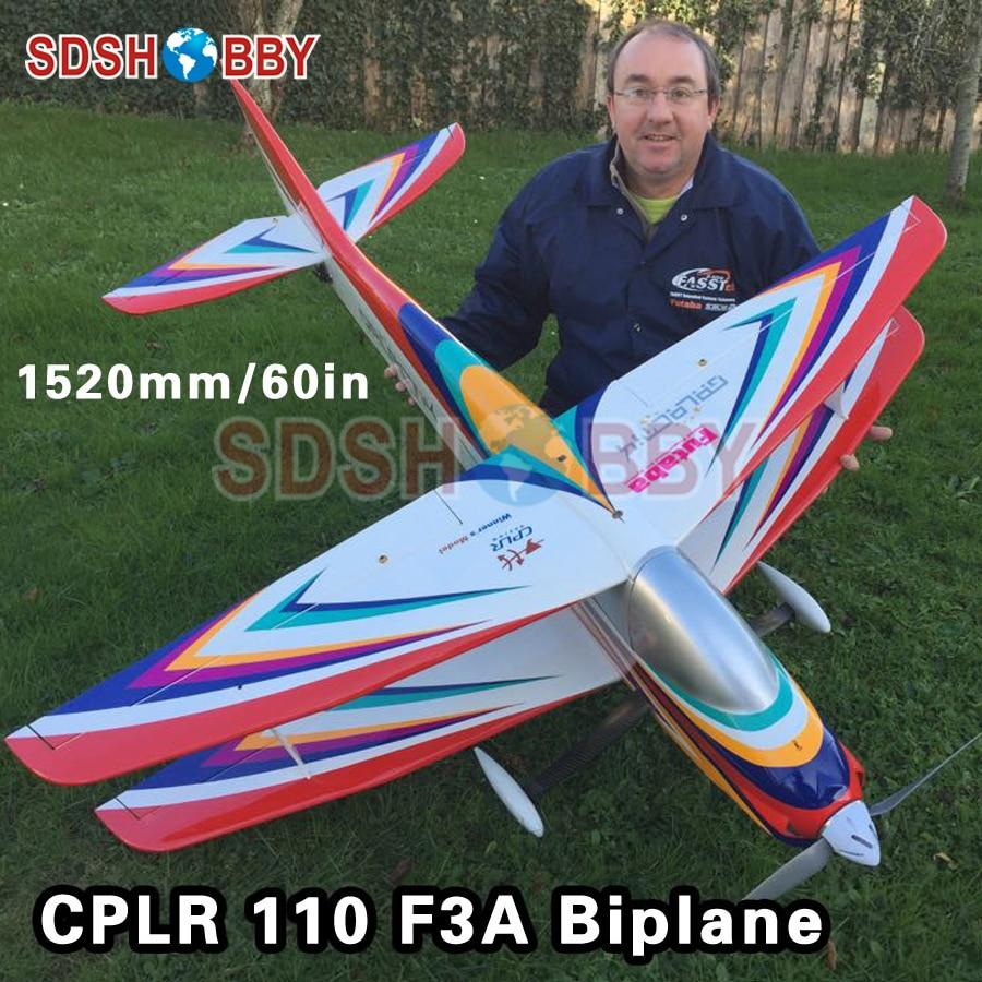 60in/1520mm CPLR Galactik 110 BP Biplane F3A Balsa Wood Airplane ARF RC Airplane mxs r 89 2260mm 50cc gas rc airplane balsa wood oracover flim plane arf