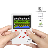 Retro Portable 2 in 1 Handheld Game Console with battery 4000mAh power bank Childhood Classic Built in 300 TV Game gift for kids