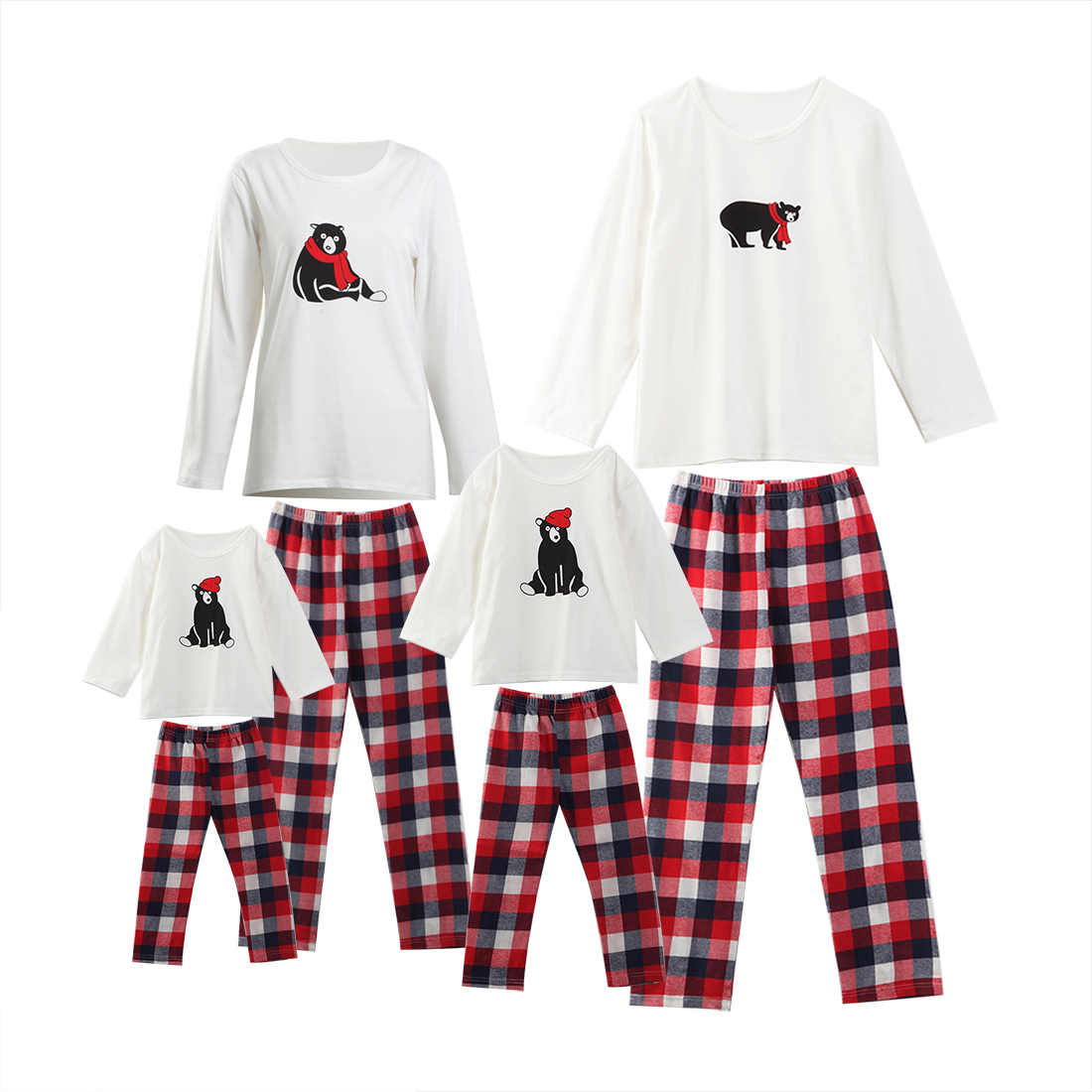 8dcebe94a ... Christmas Santa Claus Family Matching Pajamas Set Sleepwear Nightwear  Pyjamas ...