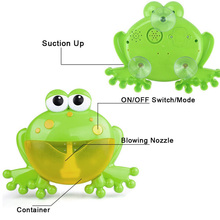 Bubble Machine Big Frogs Automatic Maker Blower Music Baby Bath Toy YJS Dropship