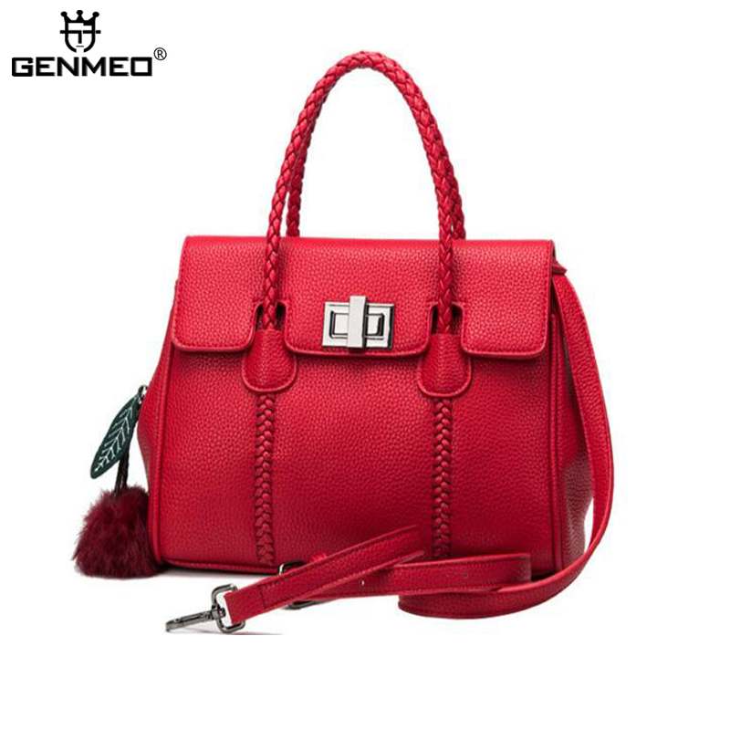 New genuine leather fashion women handbag famous brand luxury woman shoulder bag cow leather famous designer shopping bag bolsa