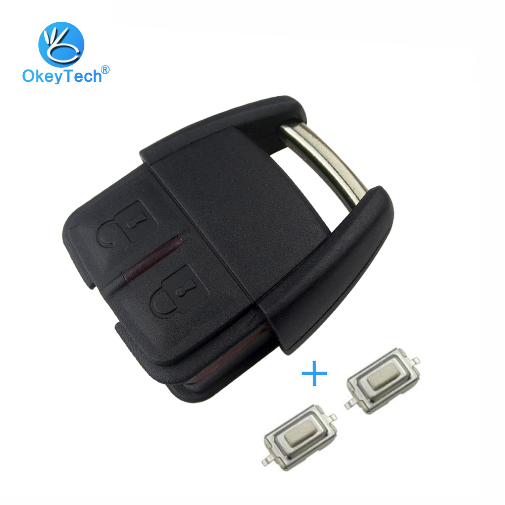 OkeyTech Replacement Cover Case Fob Keyless Entry Auto Car Key Shell Part with 2 Micro Switch for Vauxhall Opel OP4 Astra Zafira