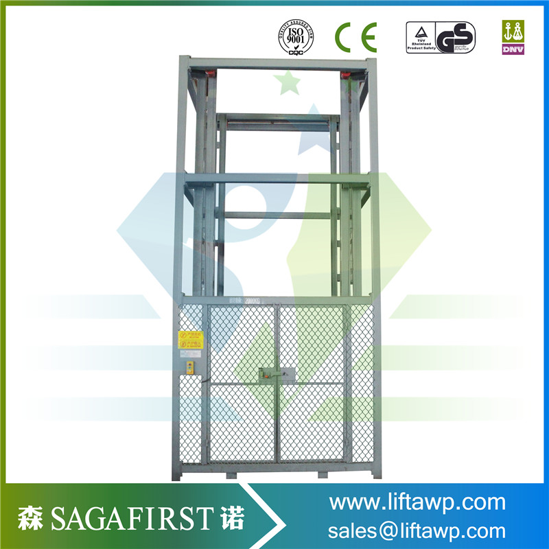 SINOFIRST Guide Rails Safe Vertical Cargo Lift