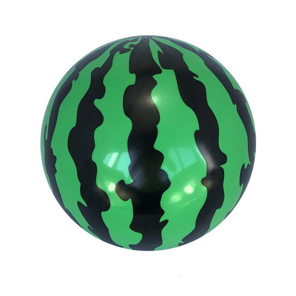 25CM Creative Inflatable Ball Simulation Watermelon Rubber Ball Beach Pool Play Early Education Gifts Soft Toys For Children Kid