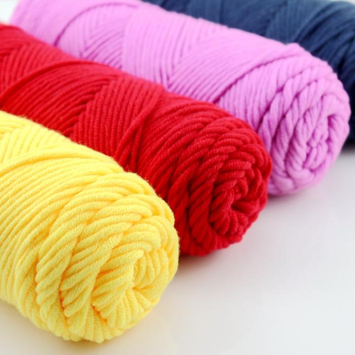 100 g de hilos gruesos para hacer punto de alto grado para tejer a - Artes, artesanía y costura