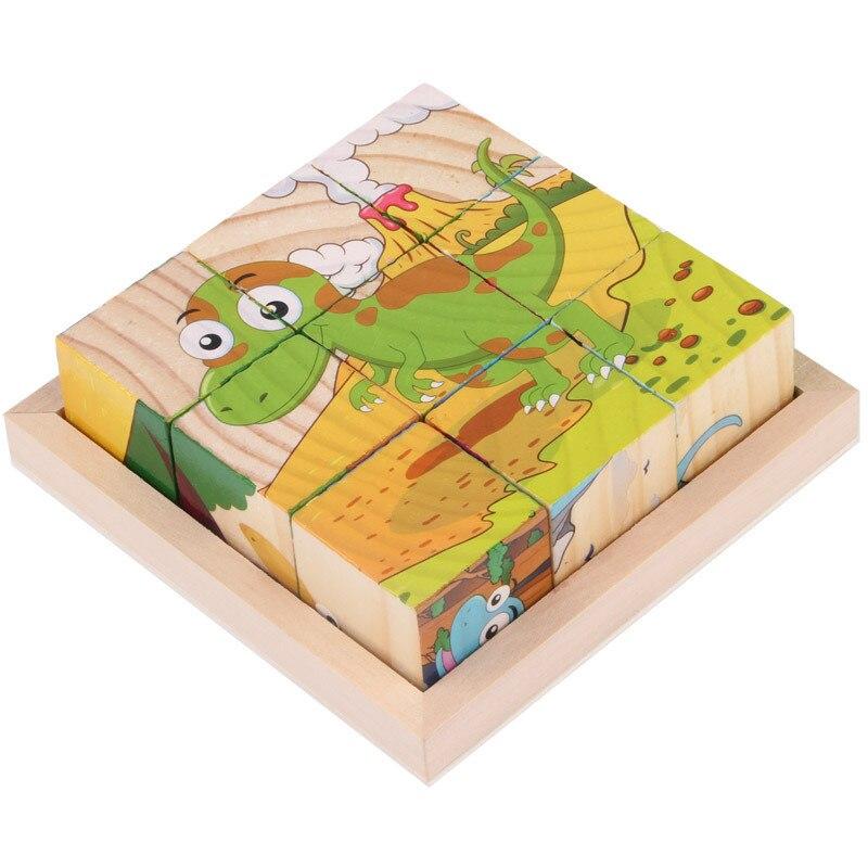 1 год паззлы для детей 3D brinquedos стерео juguetes Новые экзотические 6-изображение деревянные игрушки с лоток