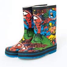 2019 nova disney homem-aranha das crianças hulk eua equipe super herói liga meninos botas de chuva de borracha sapatos de água antiderrapante tamanho 23-36