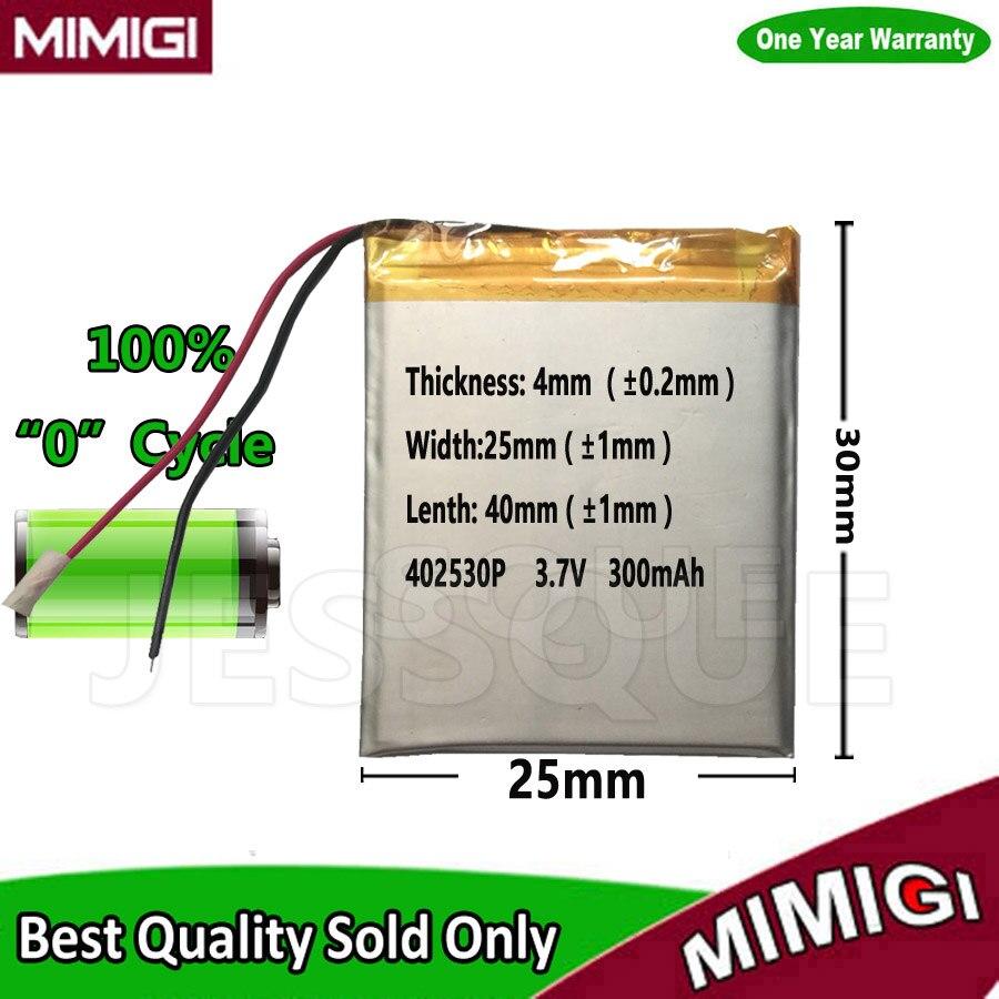 402530 3.7V <font><b>300mAH</b></font> 352530 Polymer lithium ion / Li-ion mobile phone <font><b>battery</b></font> Accumulator gps psp MP5 Speaker Batterie AKKU