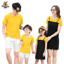 Family Look Clothing 2020 Summer Mother Daughter Dress Family Matching Outfits Father Son T-shirt Short Pants Clothes Set family look clothing 2020 summer mother daughter dress family matching outfits father son t shirt short pants clothes set