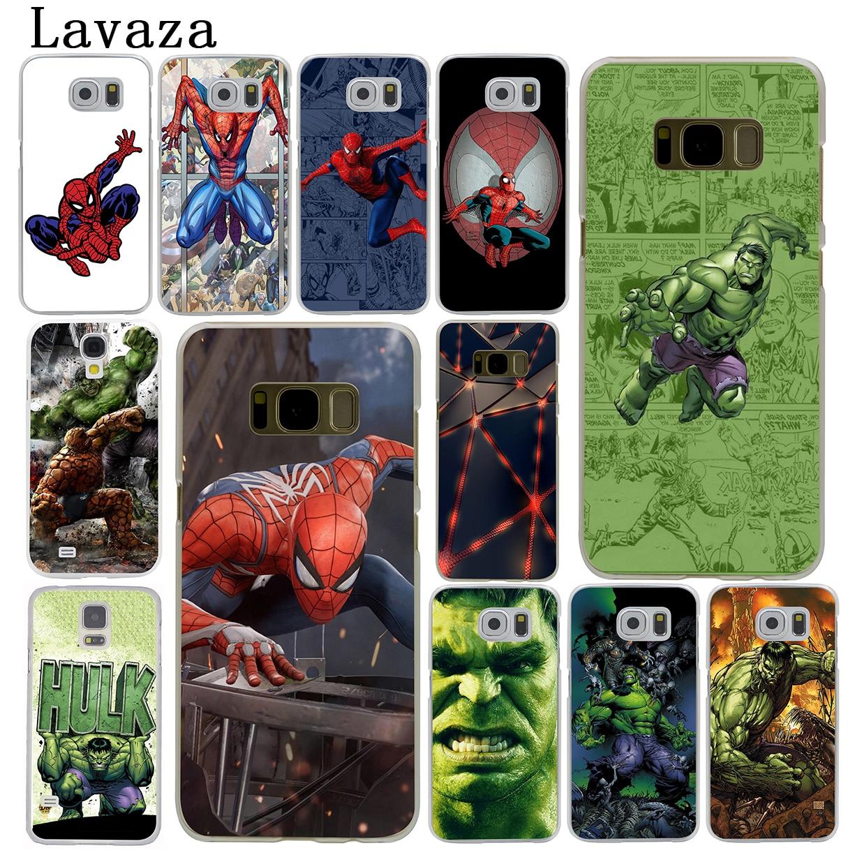 Lavaza Spider Man Marvel Hulk Hard Phone Cover Case for Samsung Galaxy S9 S6 S7 Edge S8 Plus S3 S4 S5 & Mini S2 Cases