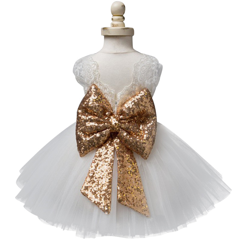 0-5T New Fashion Sequin Flower Girl Dress Party Birthday Wedding Princess Toddler Baby Girls Clothes Children Kids Girl Dresses new 2018 flower girl party dress baby birthday tutu kids dresses for girls clothes wedding princess children dress with flowers