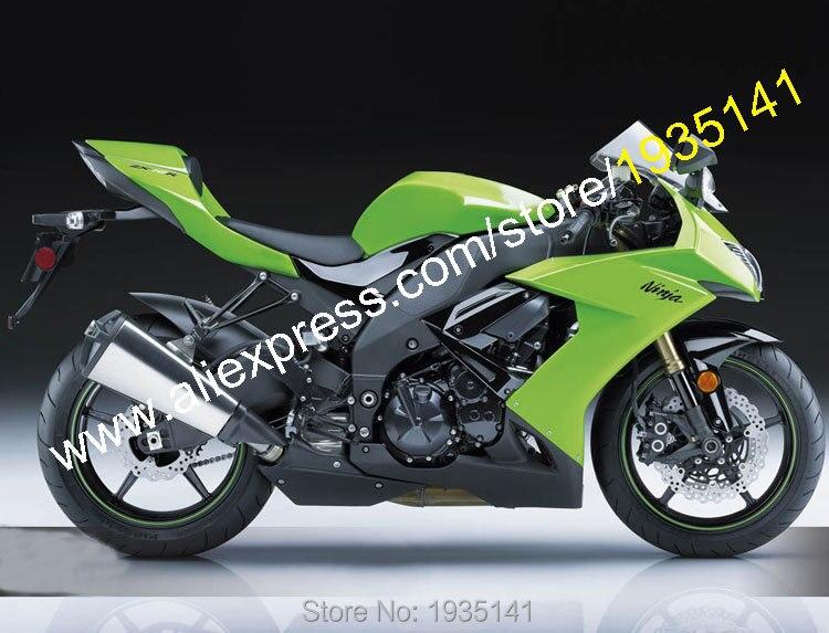 Hot Sales,For Kawasaki Parts Ninja ZX10R 2008 2010 ZX 10R 08 09 10 ZX 10R Aftermarket Motorcycle Fairing Kit (Injection molding)