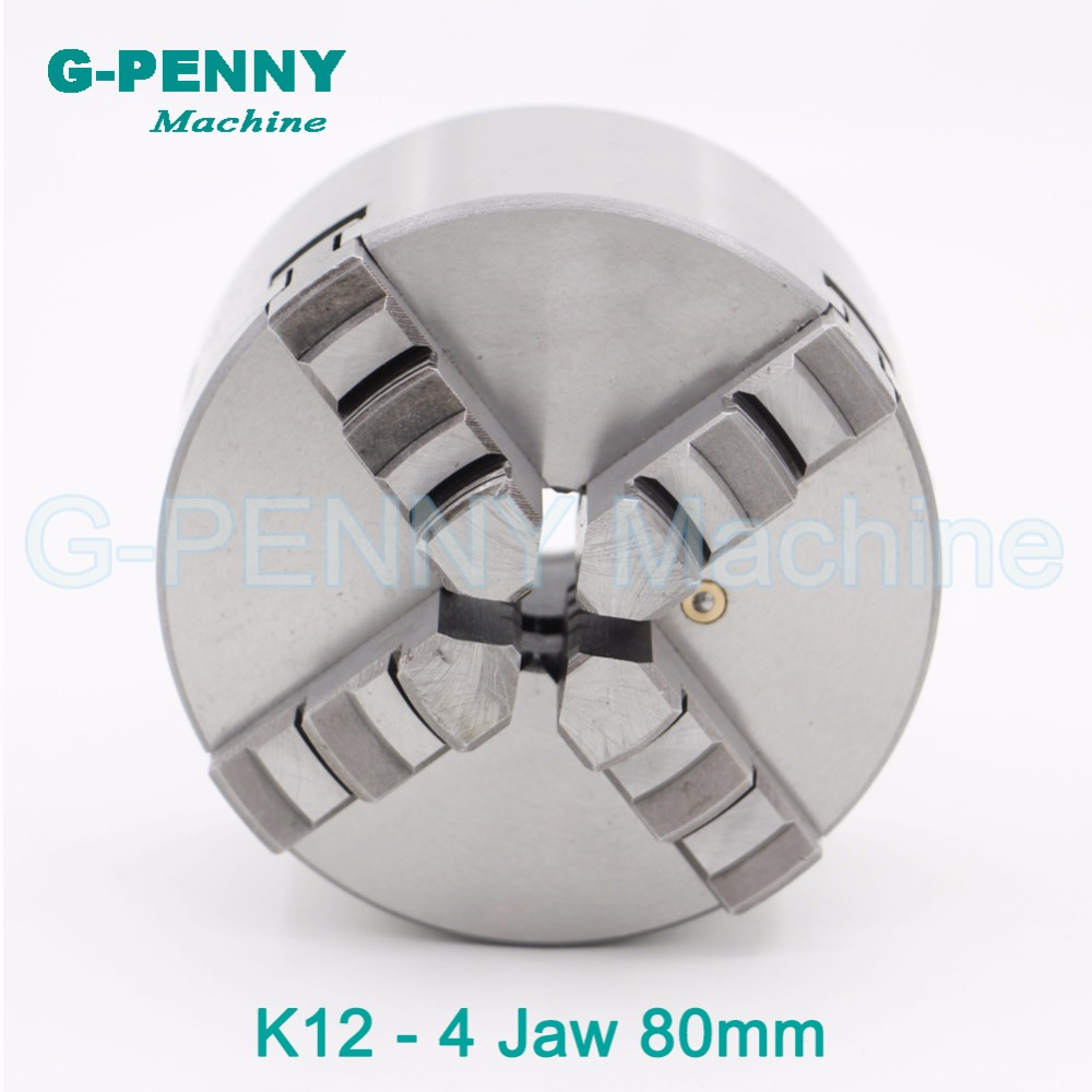 CNC 4th axis / A axis 80mm 4 jaw Chuck self-centering manual chuck four jaw for CNC Engraving Milling machine CNC Lathe Machine cnc milling machine part rotational a axis 80mm 3 jaw chuck page 5