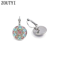 New/Hot Sale, Henna Earrings, Women's Jewelry Round Crystal Dome Earrings. wholesale