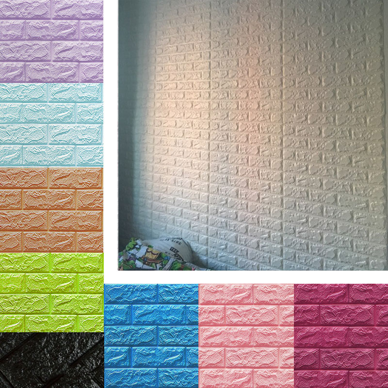 Us 111 3d Brick Wallpaper Peel And Stick Wall Panel Living Room Stickers Bedroom Kids Room Brick Self Adhesive Wall Papers Home Decor In Wallpapers