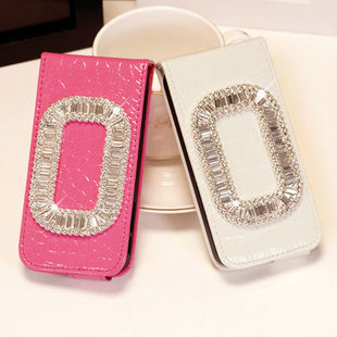 New hot leather cell phone case for iphone5 5G genuine mobile phone shell protective sleeve holster