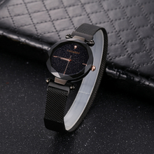 цены Luxury Brand Cagarny Women Watches Black Steel Mesh Bracelet Watch Girl Clock Ladies Wristwatches Womens Crystal Quartz Watch