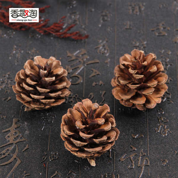 150 Lot Mini Natural Dried Pine Cones for Christmas Tree Hanging Decorations