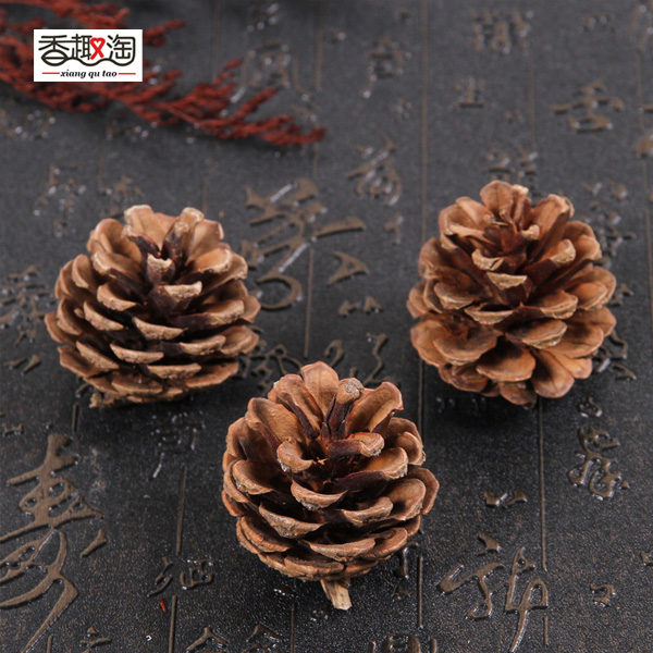 100% New Naturally Dried pine cone DIY home tree topper Christmas decorations pinecones christmas accessories 3~4CM/2pcs