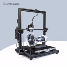Большой 3D-принтеры двойной экструдер автоматическое выравнивание с подогревом xinkebot Orca2 cygnus 3D-принтеры Премиум Алюминий Рамка 400x400x500 мм