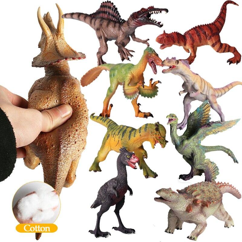 US $16 99 40% OFF|Jurassic World Park Dinosaur Toys Model Carnotaurus  Microraptor Velociraptor Model PVC Action Figure For Boy Children Gift  F4-in