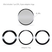 Nisi 100mm V5 Square Filter Kit Triple 3 Filter METAL Holder + CPL+Adapter Ring Universal with Integrated CPL or Landscape CPL