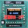 Original AMD A8 4500M laptop CPU Quad Core A8-4500M 1.9G Socket FS1 A8-Series Notebook