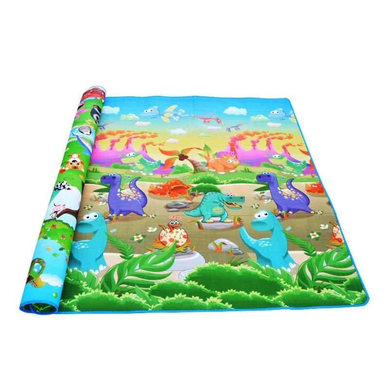 HTB1Fjlwl8jTBKNjSZFwq6AG4XXaB 0.5cm Thickness Children's Rug Baby Playing Mats Soft EVA Foam Double Side Patterns Child Carpets For Kids Crawling Gym Mats