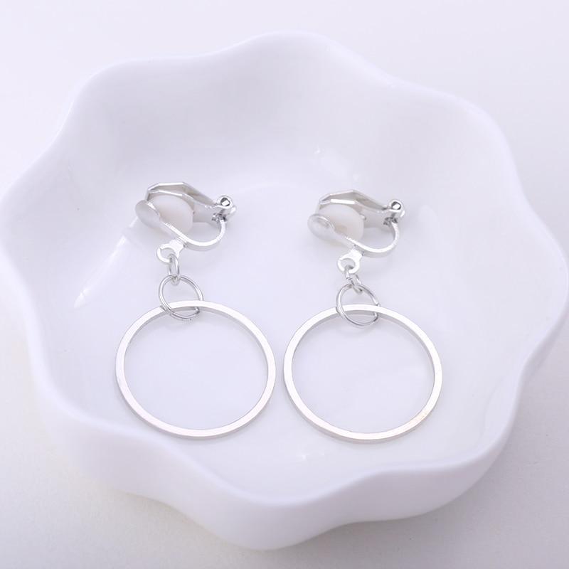 Geometrisk Round Clip Earring Inga Pierced Ear Clips Trendiga - Märkessmycken - Foto 2