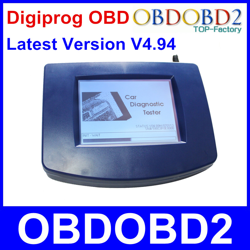 Newest Odometer Programmer Digiprog III OBD Version Digiprog 3 V4.94 With OBD2 ST01 ST04 Cable Odometer Digiprog3 Free Ship hot sale original professional st60 w211 and w203 cluster diagnostic cable for digiprog iii