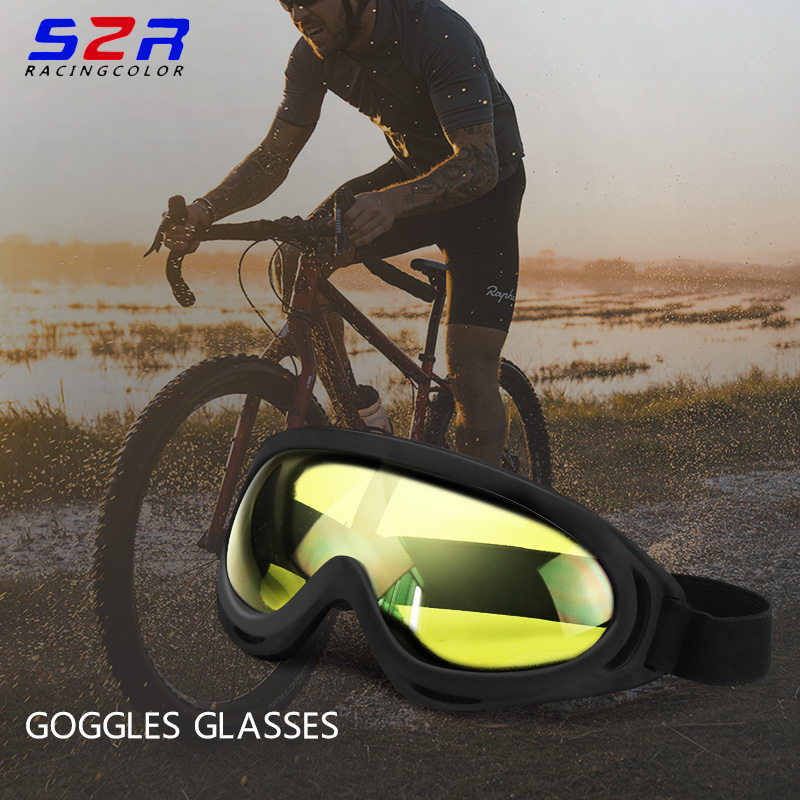 S2R Motocross Goggles Glasses  Outdoor Oculos Cycling MX Off Road Helmet Ski Sport Gafas For Motorcycle Dirt Bike Racing Goggles bande réfléchissante scooter orange pour fourche