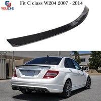 W204 AMG Style Carbon Fiber Rear Spoiler for Mercedes W204 C Class Sedan / Coupe 2007 2014 C180 C200 C250 C300 C350