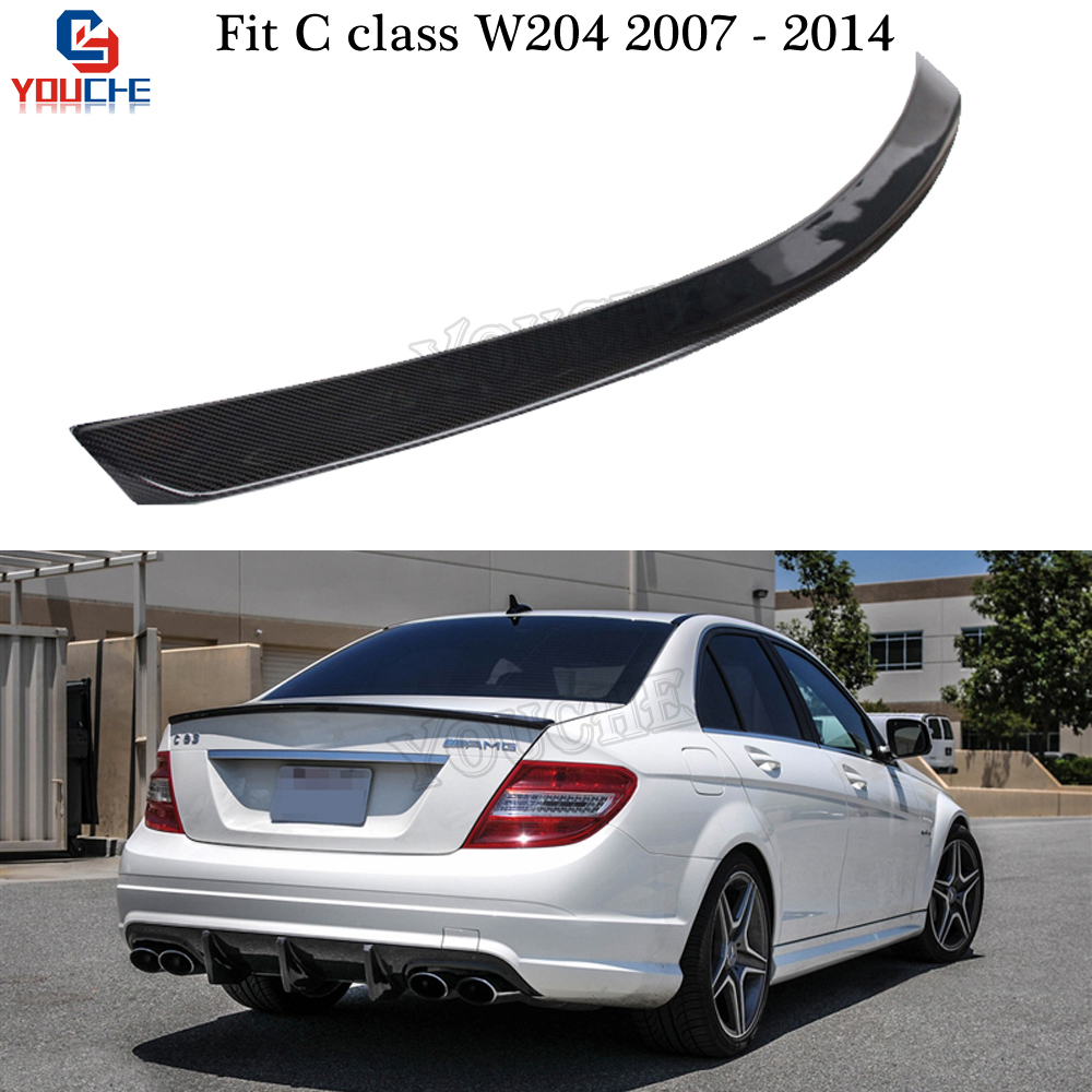 Mercedes C350 Sport: W204 AMG Style Carbon Fiber Rear Spoiler For Mercedes W204