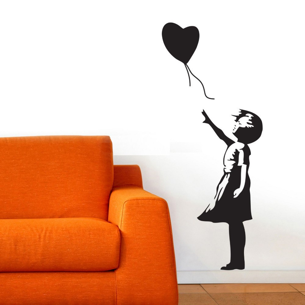 Banksy Wall Decal, Balloon Girl Inspired Banksy Vinyl Wall Art Sticker In  Wall Stickers From Home U0026 Garden On Aliexpress.com | Alibaba Group