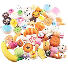 30/20/10Stks/pak Squeeze Trage Stijgende Schattig Mini Cake Donut Charme Squishies Speelgoed Stretchy Squishy Cream Scented